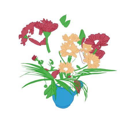 Croquis dessins et colorisations page 15 - Dessins de bouquets de fleurs ...
