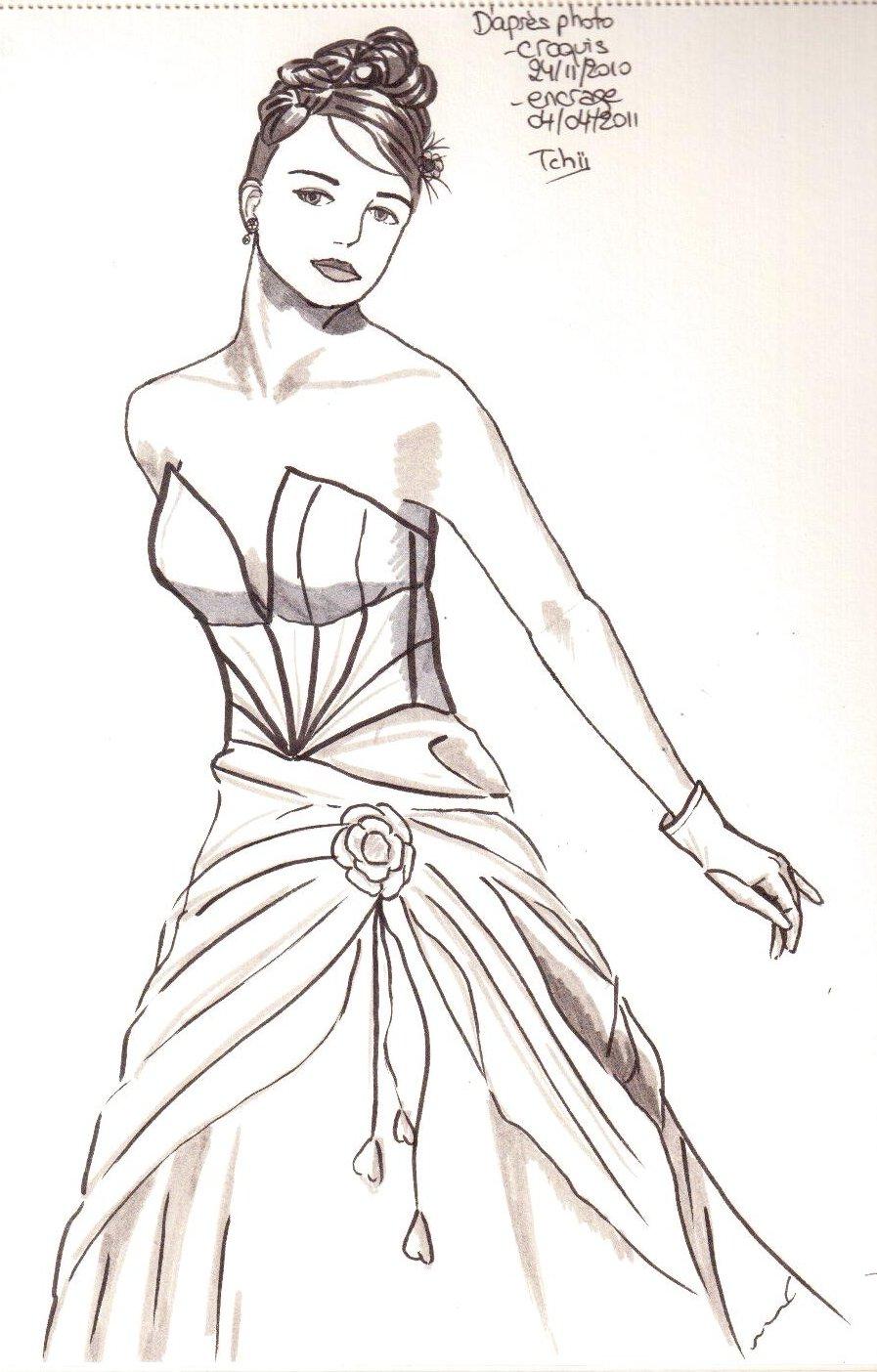 Encrage dessin robe mariee 040411 001 avr 2011